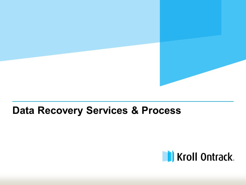 Data Recovery Services & Process
