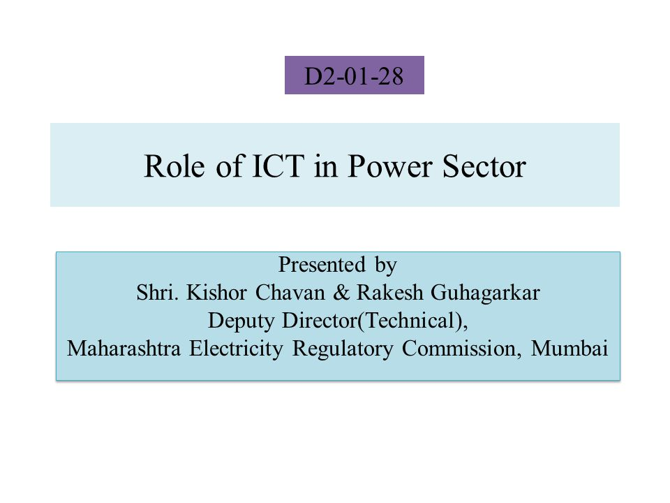 Agenda Role of ICT in Power Sector Challenges in Transmission WAMS / PMU Real Time Application of WAMS WAMS implementation in Maharashtra, India.