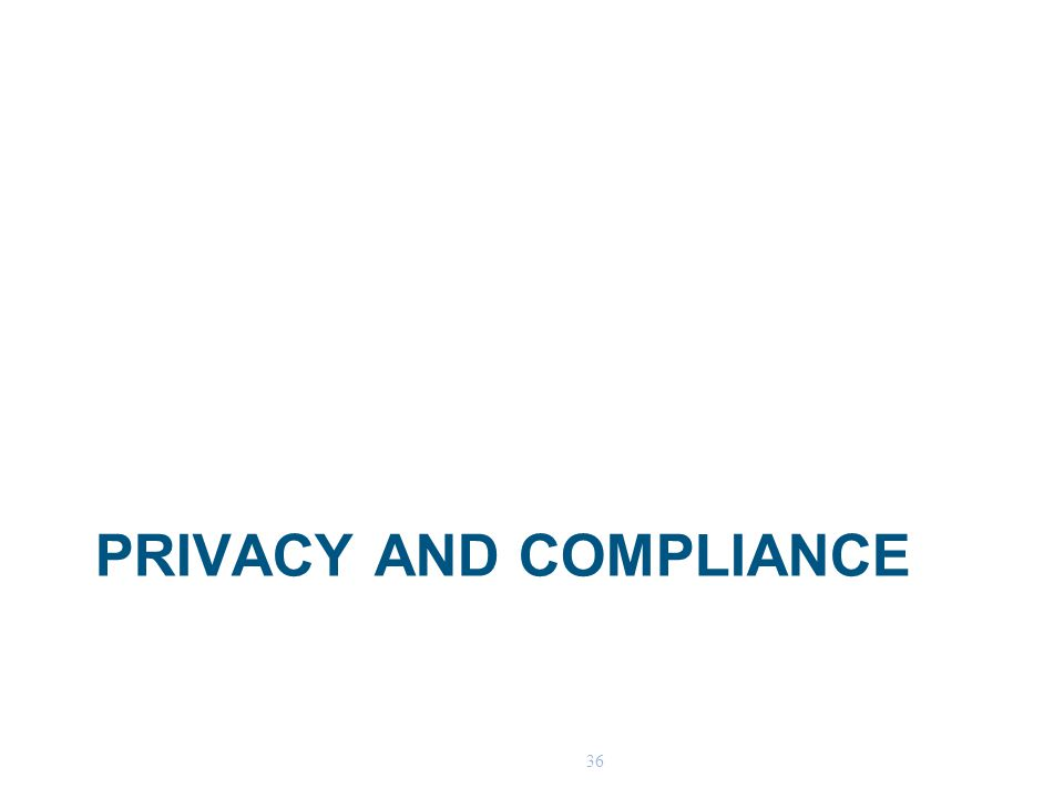 36 PRIVACY AND COMPLIANCE