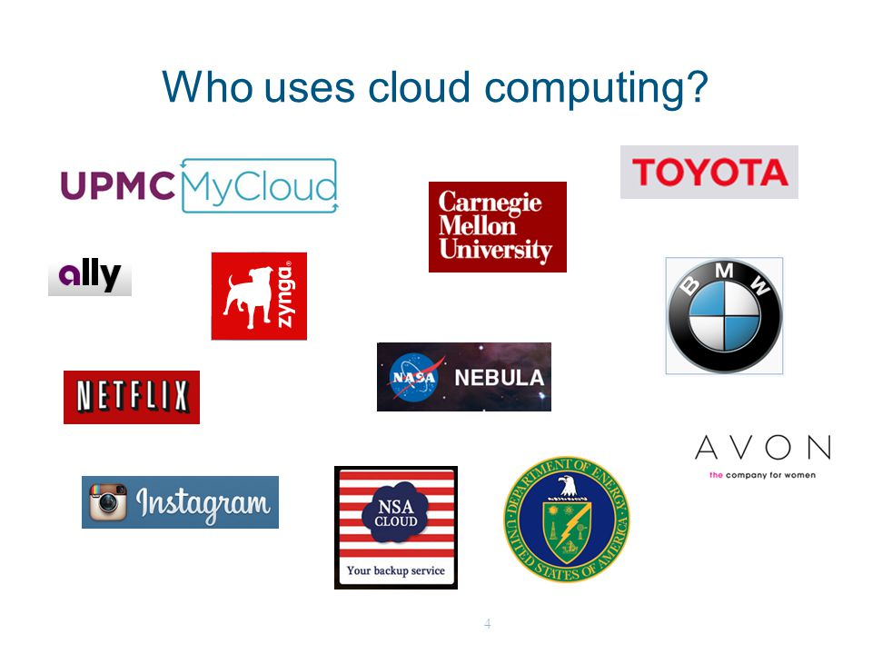 4 Who uses cloud computing