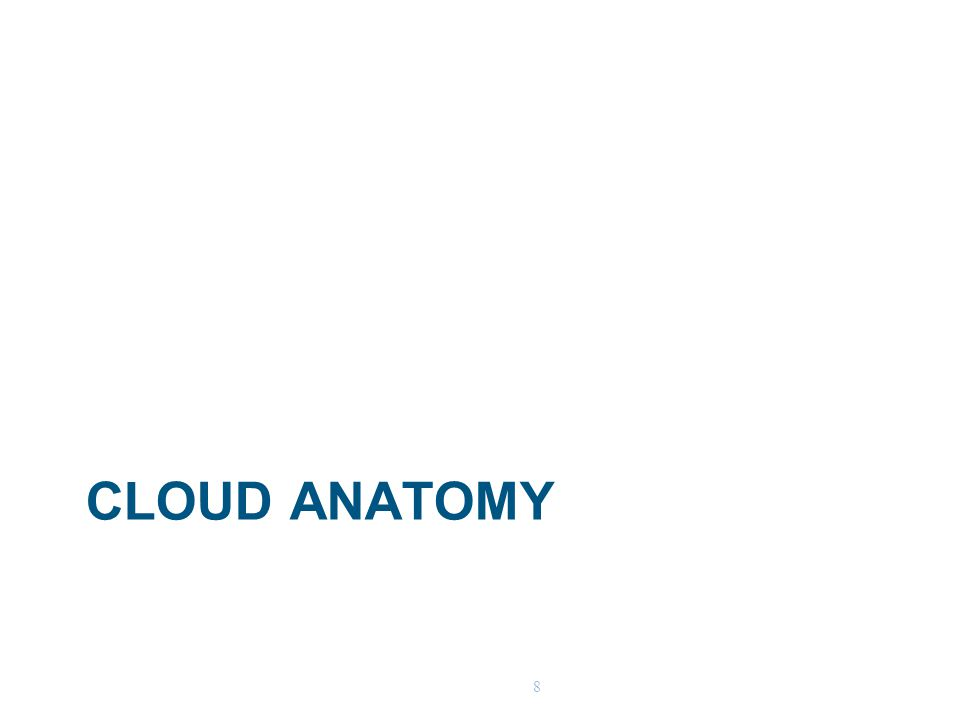 8 CLOUD ANATOMY