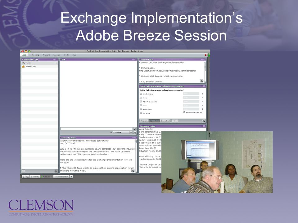 Exchange Implementation's Adobe Breeze Session