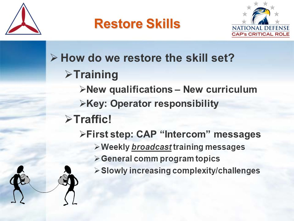 Restore Skills  How do we restore the skill set.
