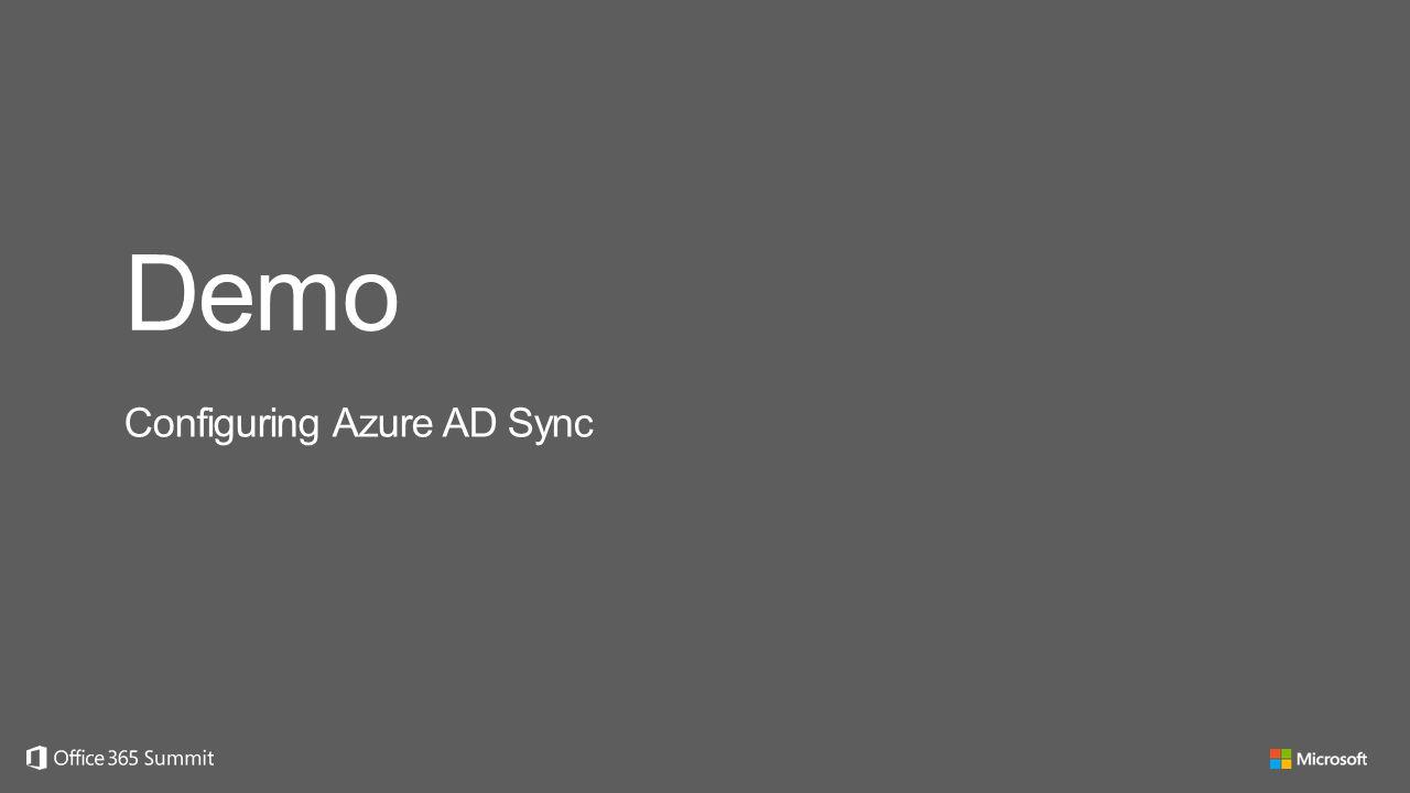 Demo Configuring Azure AD Sync