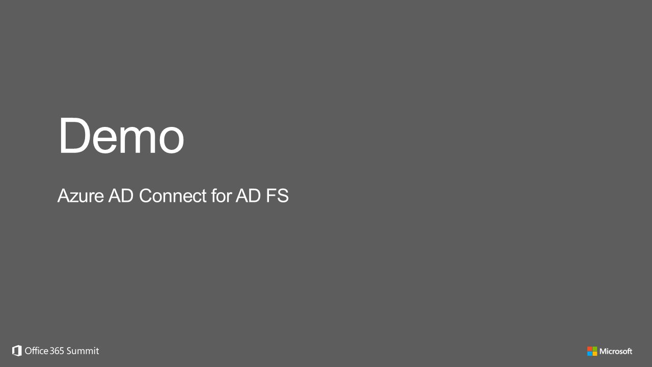 Demo Azure AD Connect for AD FS