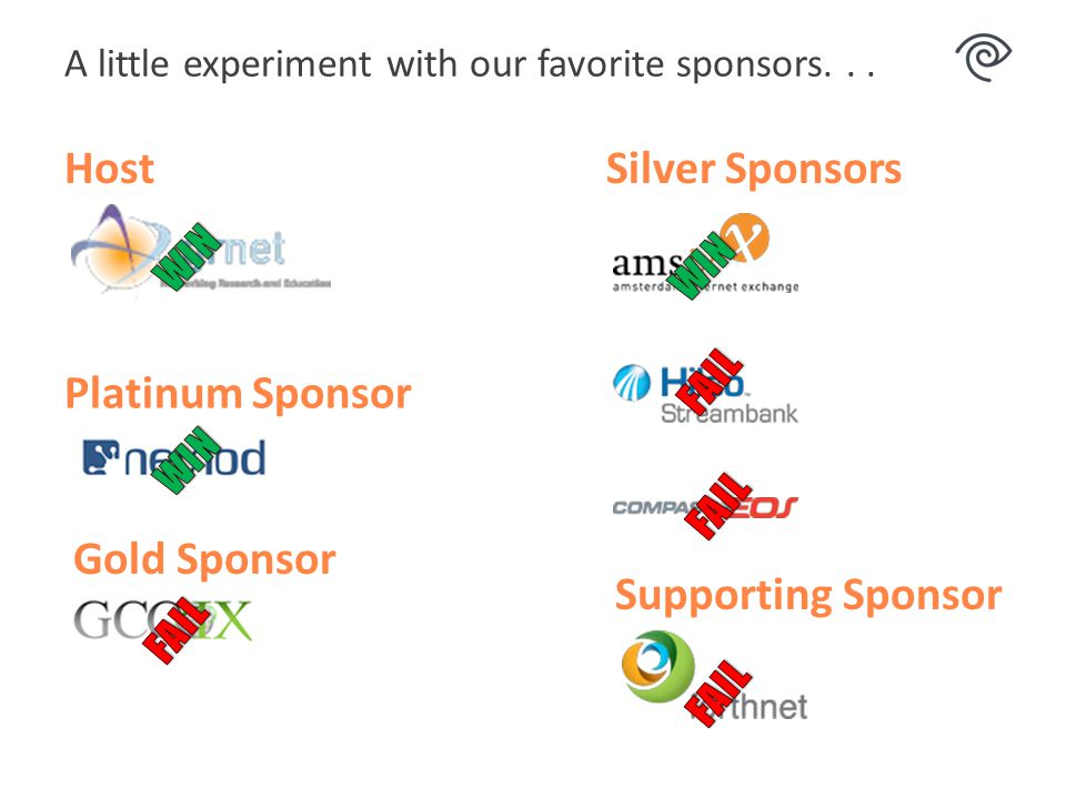 A little experiment with our favorite sponsors...
