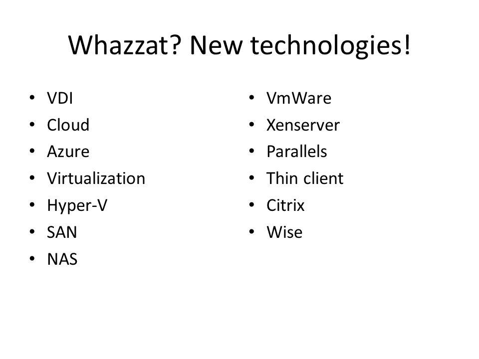 Virtualization costs.