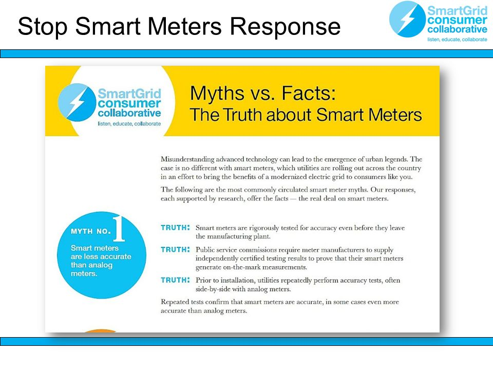 Stop Smart Meters Response