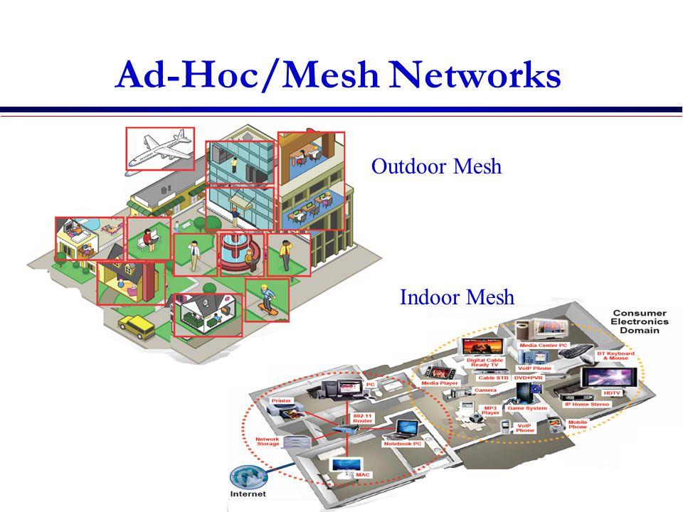 ce Ad-Hoc/Mesh Networks Outdoor Mesh Indoor Mesh