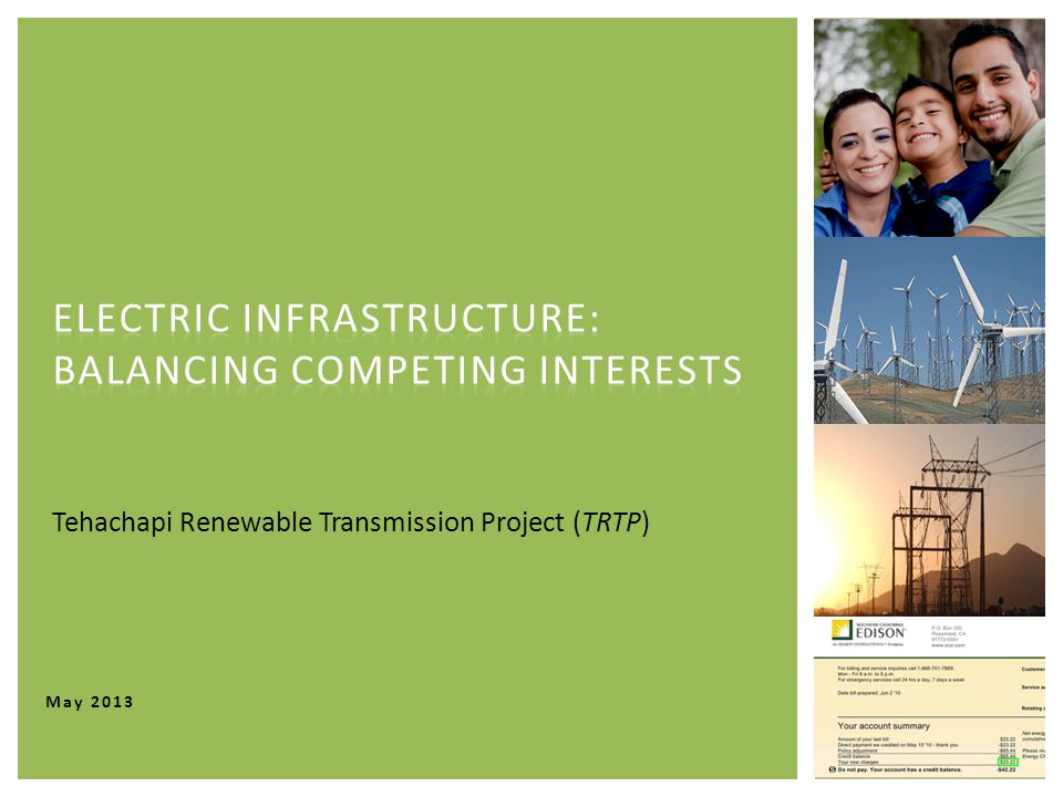 May 2013 Tehachapi Renewable Transmission Project (TRTP)
