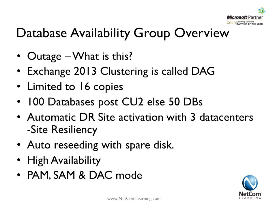 Database Availability Group Overview Outage – What is this.