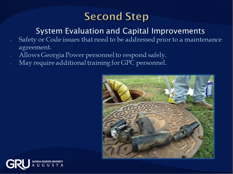 System Evaluation and Capital Improvements - Safety or Code issues that need to be addressed prior to a maintenance agreement.
