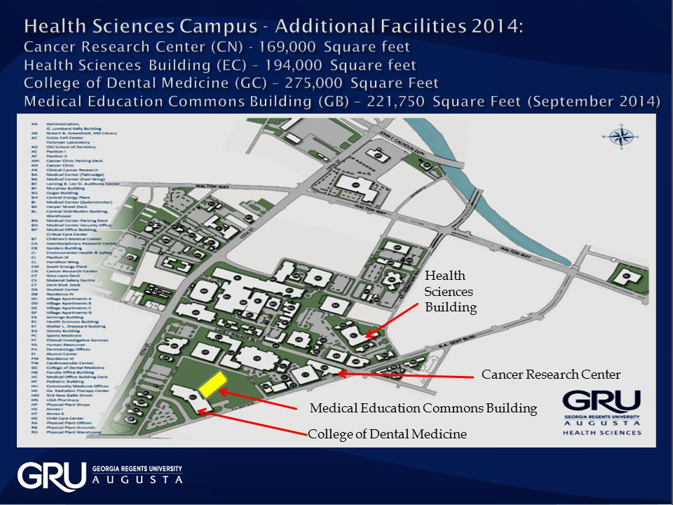 College of Dental Medicine Cancer Research Center Health Sciences Building Medical Education Commons Building