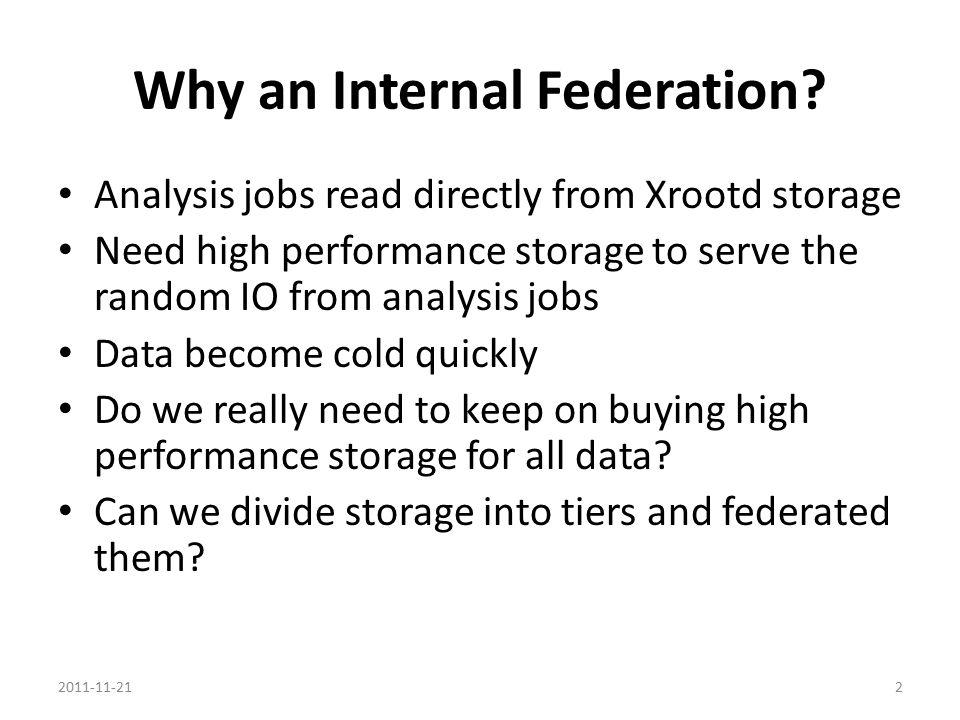 Why an Internal Federation.