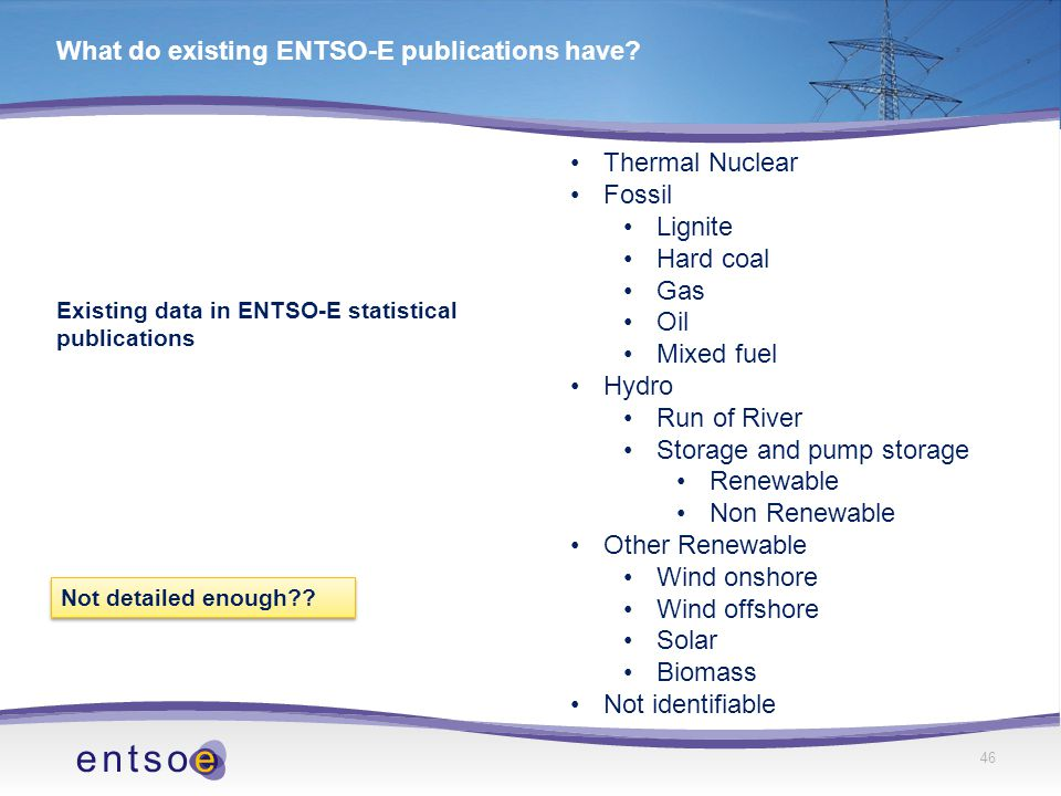 46 What do existing ENTSO-E publications have.