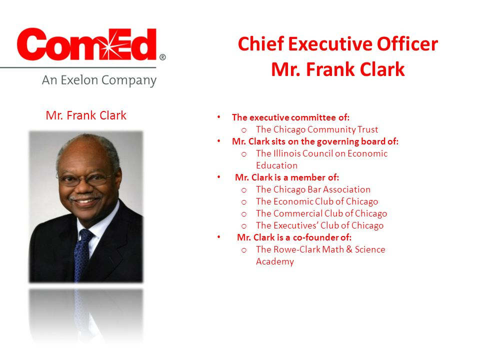 The executive committee of: o The Chicago Community Trust Mr.