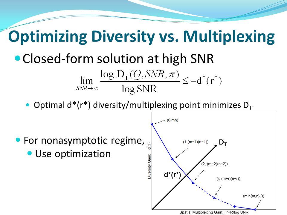 Optimizing Diversity vs.