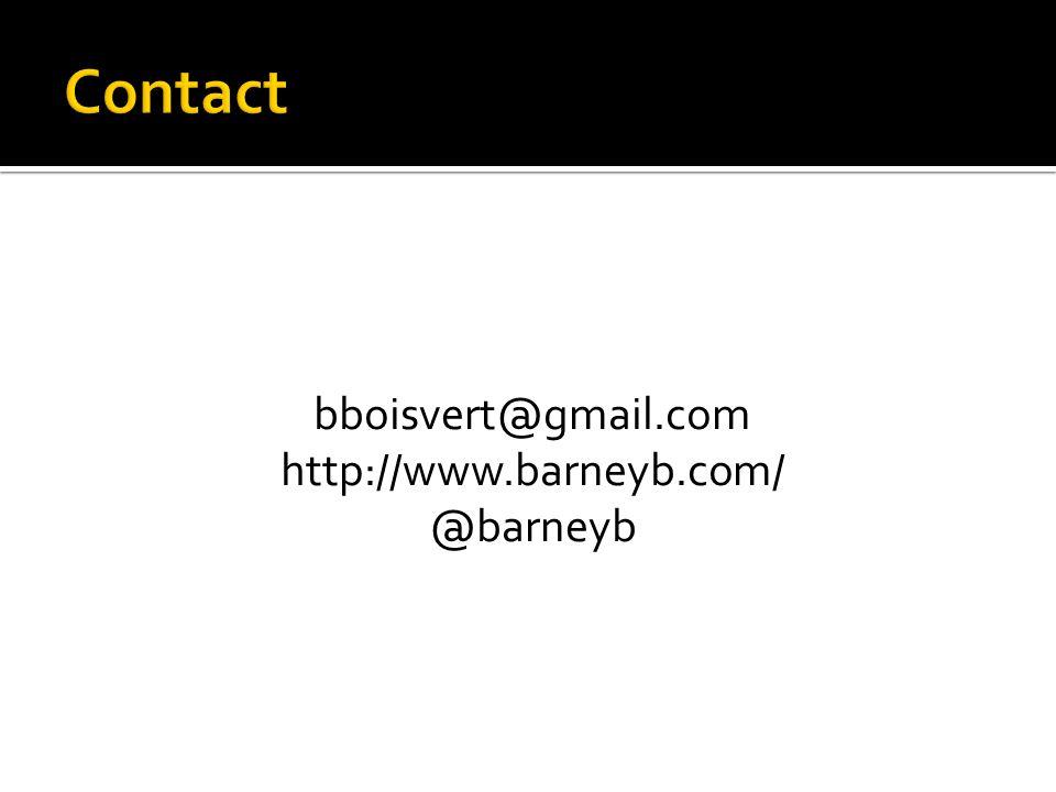 bboisvert@gmail.com http://www.barneyb.com/ @barneyb