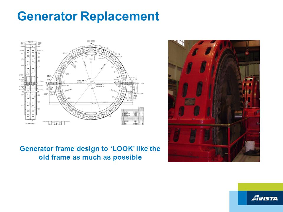 Generator Replacement Generator frame design to 'LOOK' like the old frame as much as possible