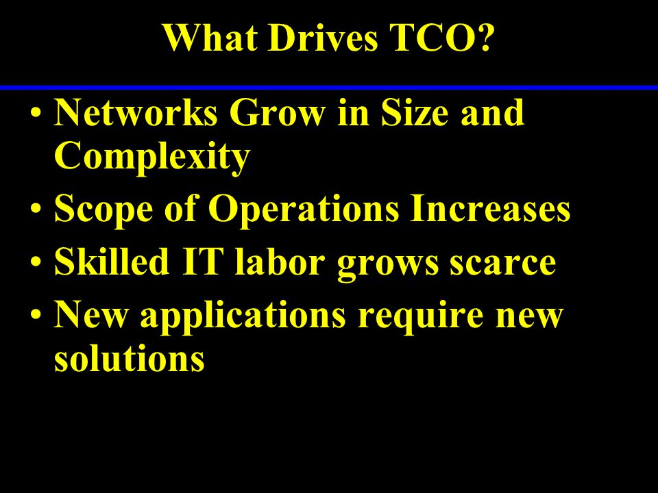 What Drives TCO.