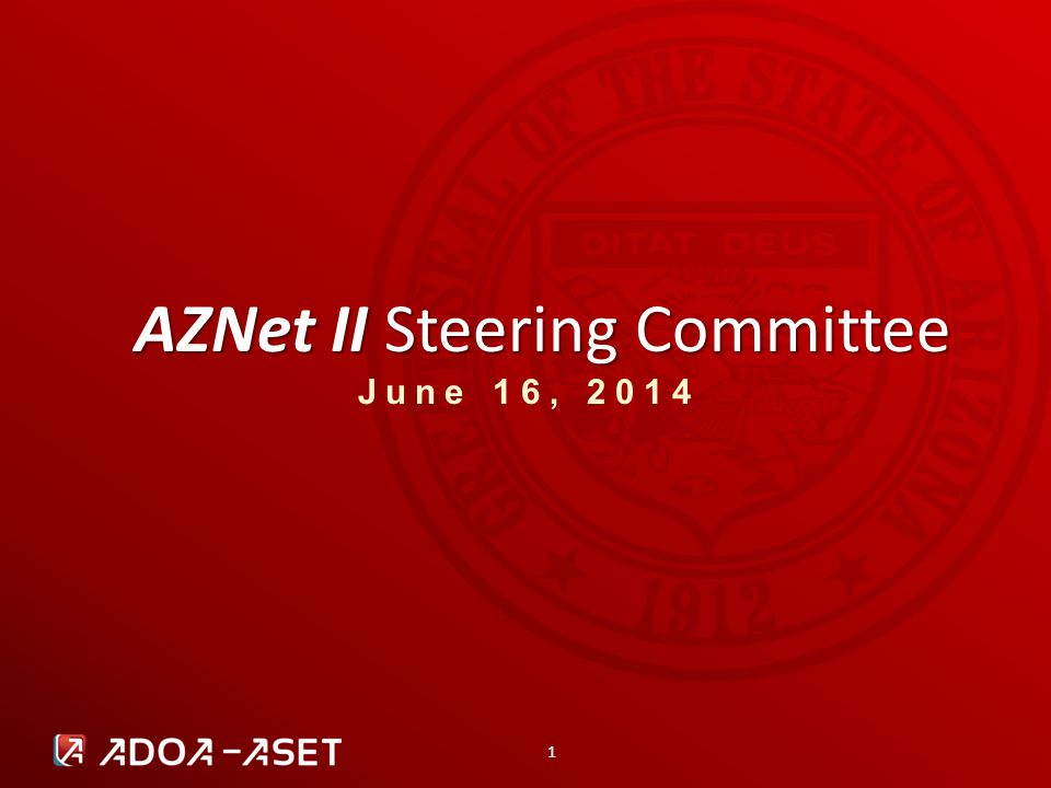 22 AZNet II Steering Committee | 2014 OPERATIONS UPDATE AZNet II Arizona Network