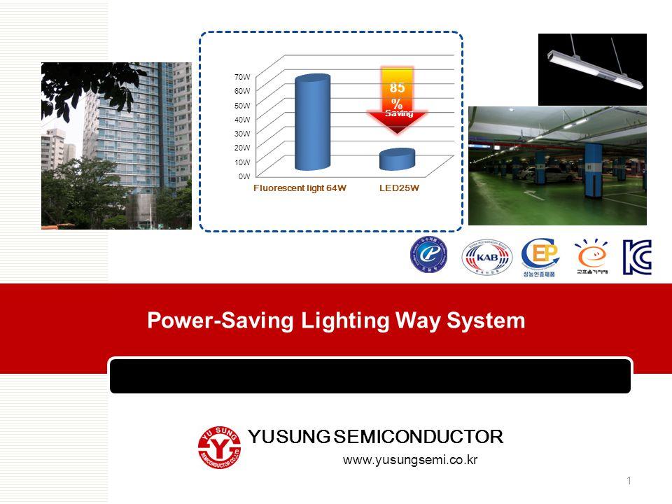 85 % 64W 10W Saving LED25WFluorescent light 64W Power-Saving Lighting Way System 1 YUSUNG SEMICONDUCTOR www.yusungsemi.co.kr