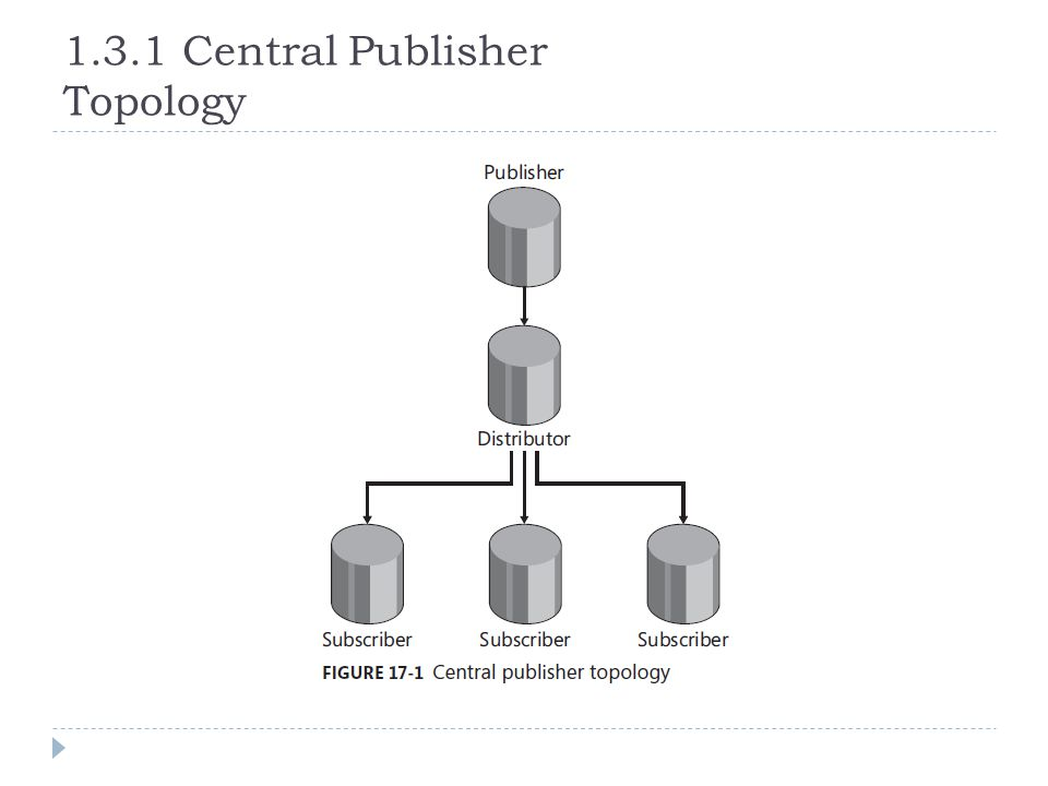 1.3.1 Central Publisher Topology