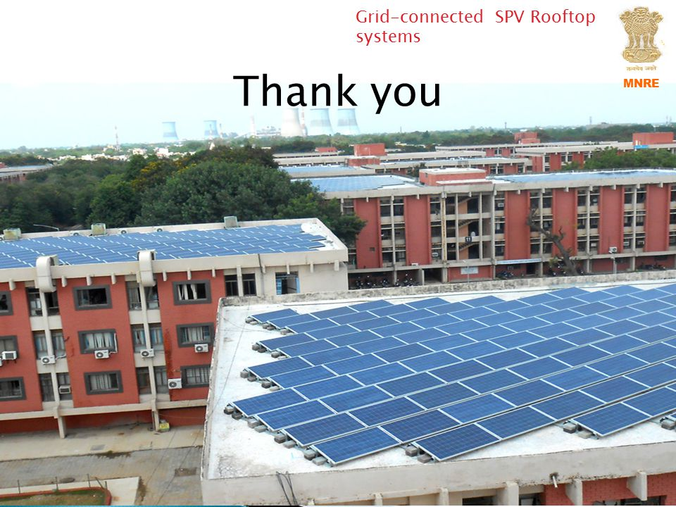 Thank you Grid-connected SPV Rooftop systems MNRE