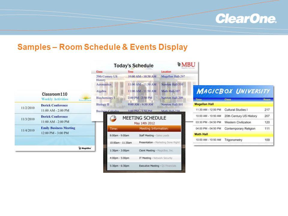Samples – Room Schedule & Events Display