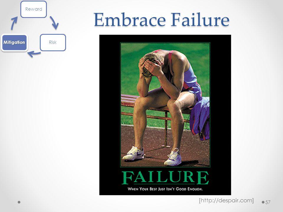 Embrace Failure 57 [http://despair.com] RewardRiskMitigation