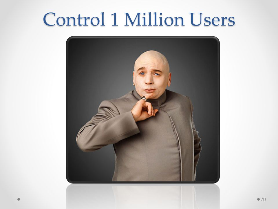 Control 1 Million Users 70