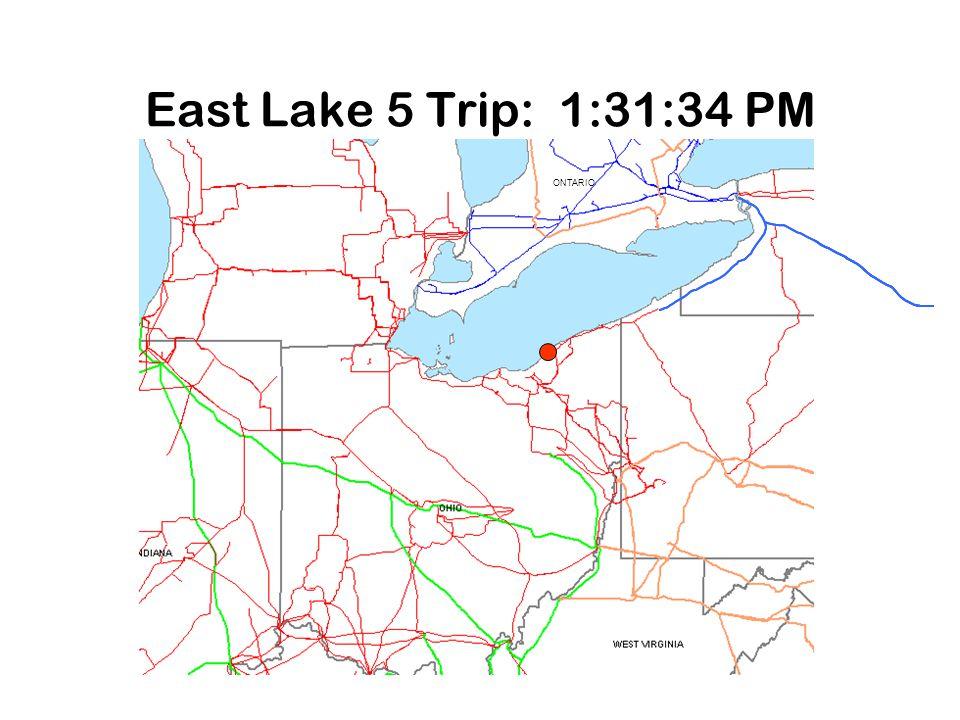 East Lake 5 Trip: 1:31:34 PM ONTARIO 2 1