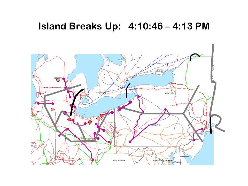 Island Breaks Up: 4:10:46 – 4:13 PM