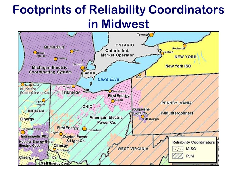 Footprints of Reliability Coordinators in Midwest