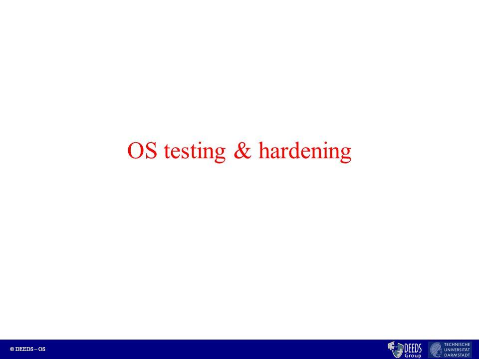 © DEEDS – OS OS testing & hardening