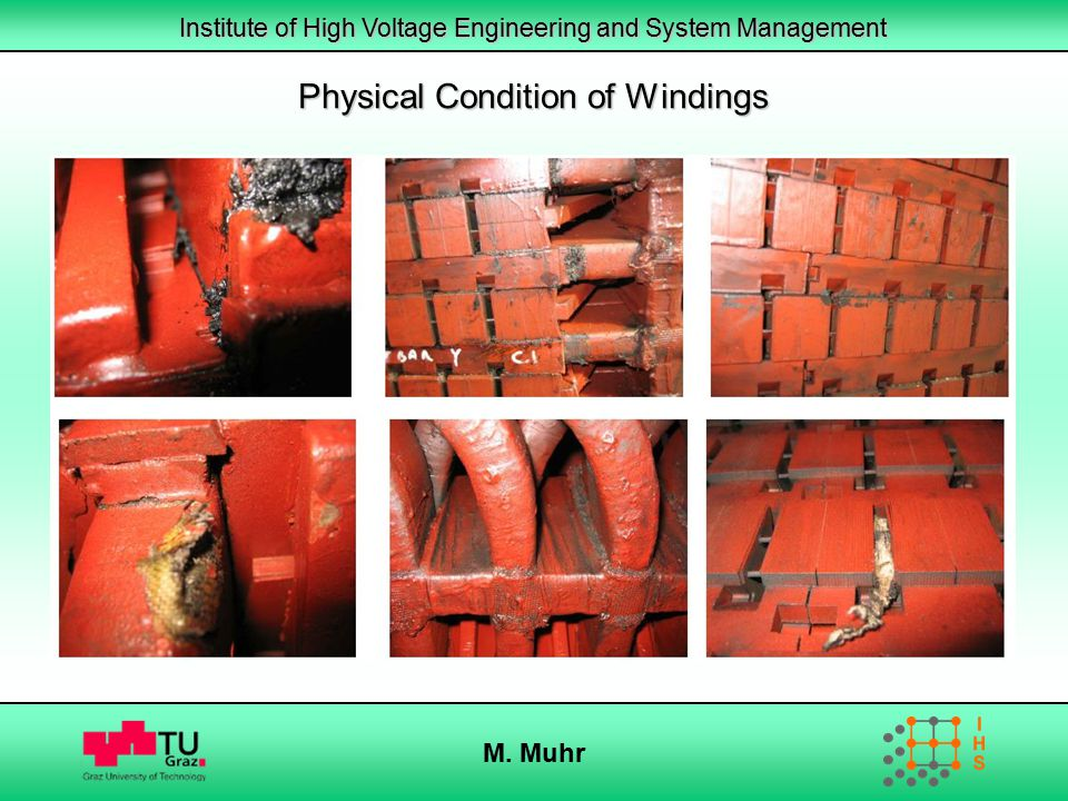 Institute of High Voltage Engineering and System Management M. Muhr Physical Condition of Windings