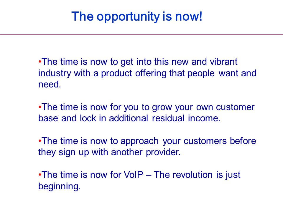 The time is now to get into this new and vibrant industry with a product offering that people want and need. The time is now for you to grow your own