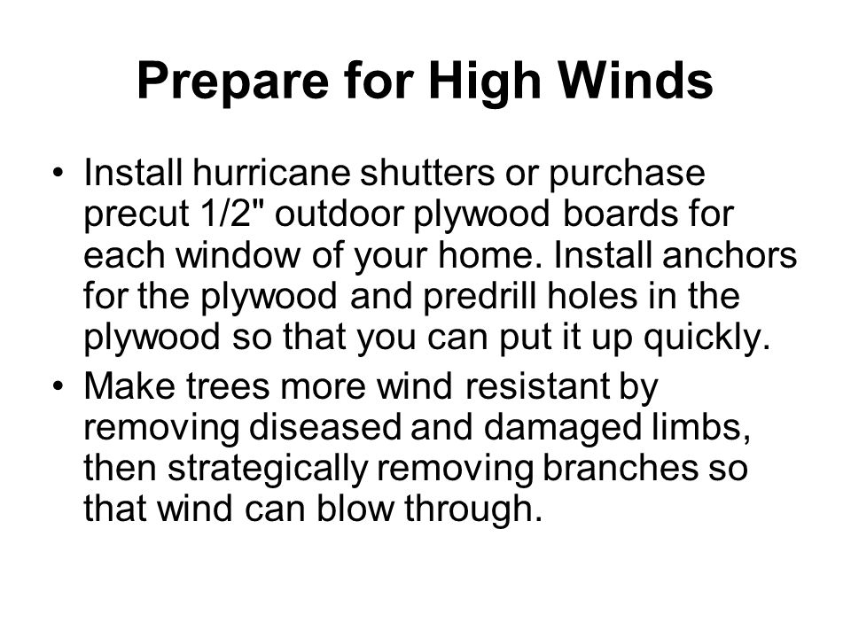 Know What to Do When a Hurricane WATCH Is Issued Listen to NOAA Weather Radio or local radio or TV stations for up-to-date storm information.