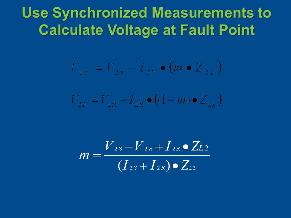 Use Synchronized Measurements to Calculate Voltage at Fault Point