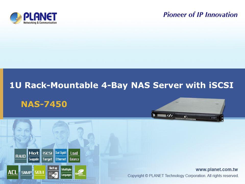 1U Rack-Mountable 4-Bay NAS Server with iSCSI NAS-7450