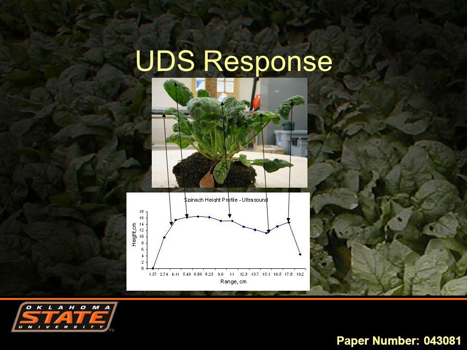 UDS Response Paper Number: 043081