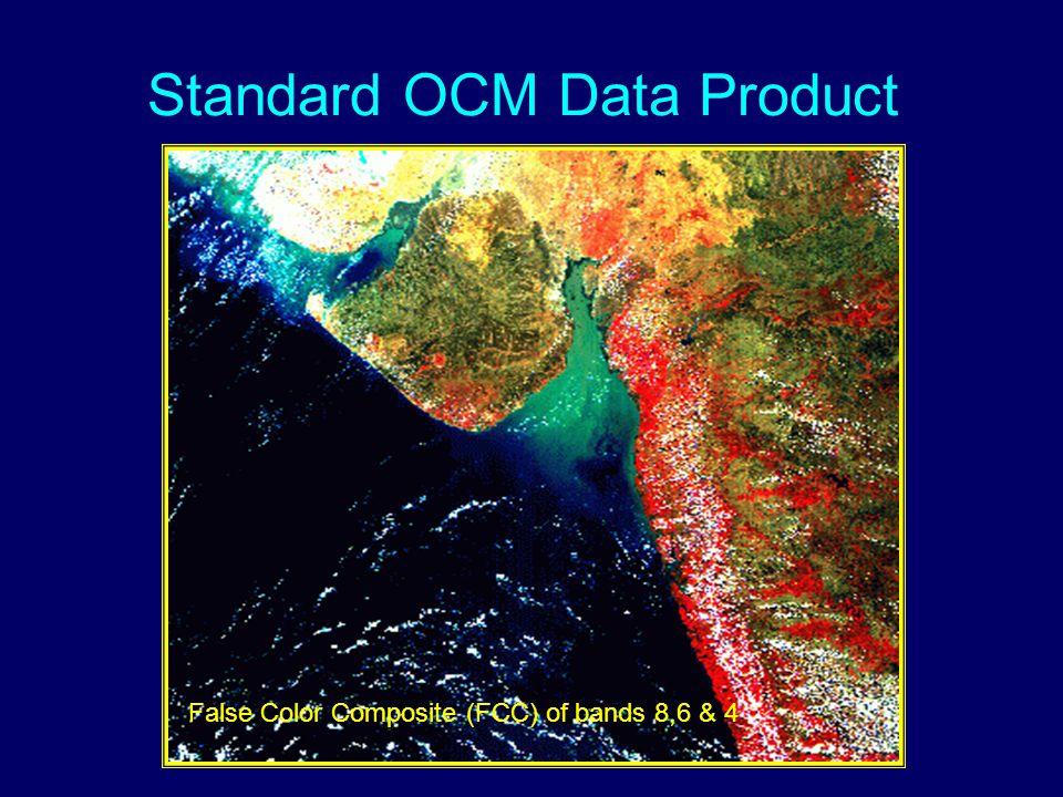 Standard OCM Data Product False Color Composite (FCC) of bands 8,6 & 4