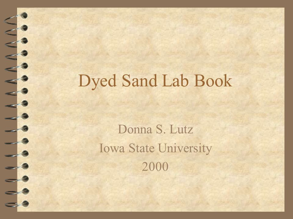 COE Dyed Sand Study Major Objectives 4 Use dyed sand to trace dredge material movement in river system 4 Find appropriate dye to dye sand particles 4 Develop fluorometry procedure to identify presence of dyed sand 4 Evaluate the background interference caused by chlorophyll 10/3/00