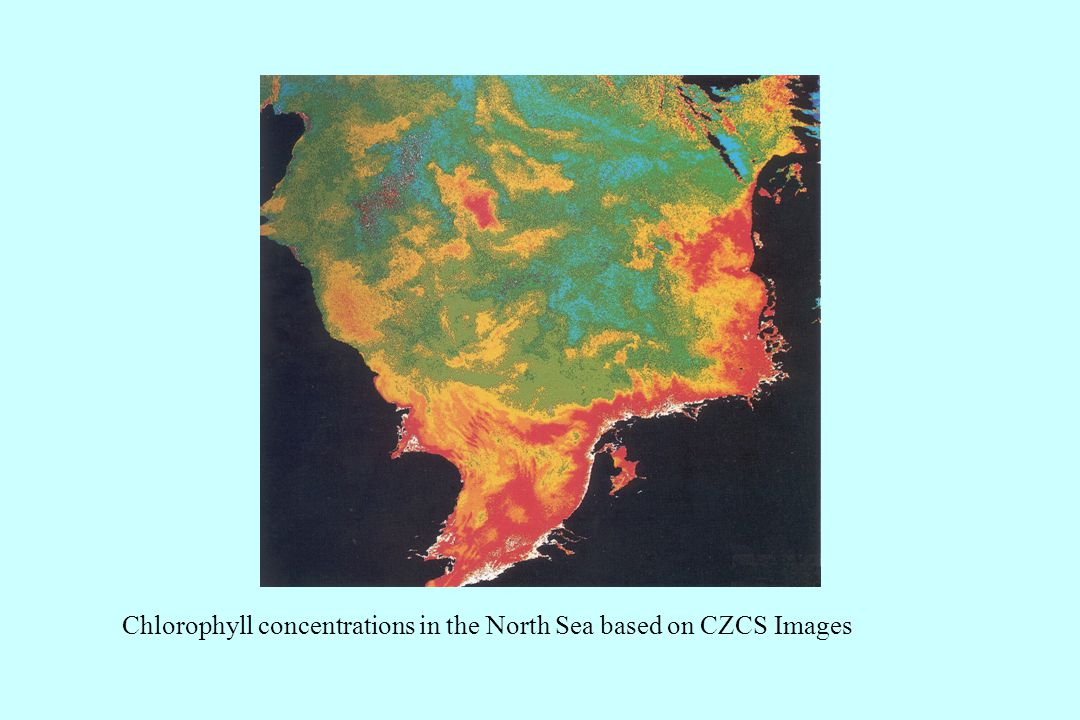 Chlorophyll concentrations in the North Sea based on CZCS Images