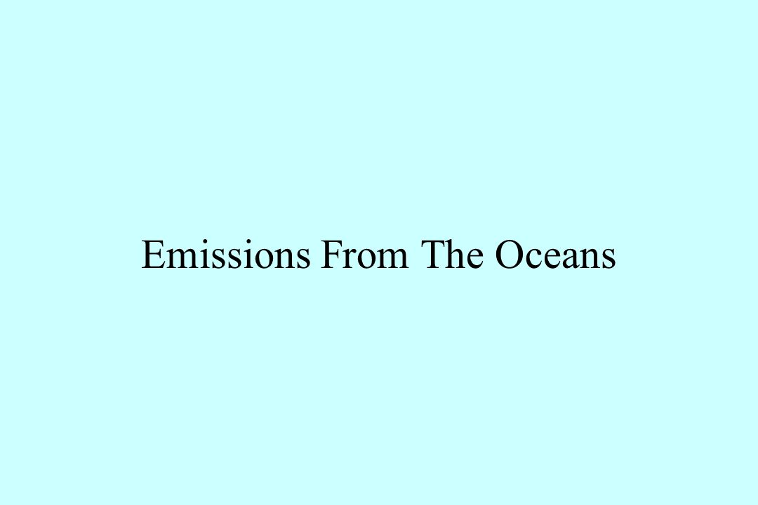 Emissions From The Oceans