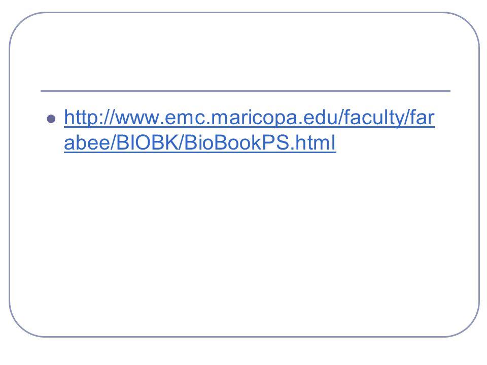 http://www.emc.maricopa.edu/faculty/far abee/BIOBK/BioBookPS.html http://www.emc.maricopa.edu/faculty/far abee/BIOBK/BioBookPS.html