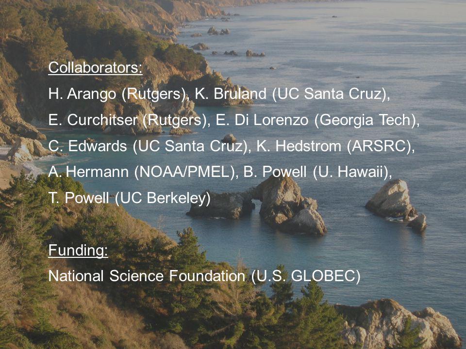 Collaborators: H. Arango (Rutgers), K. Bruland (UC Santa Cruz), E.