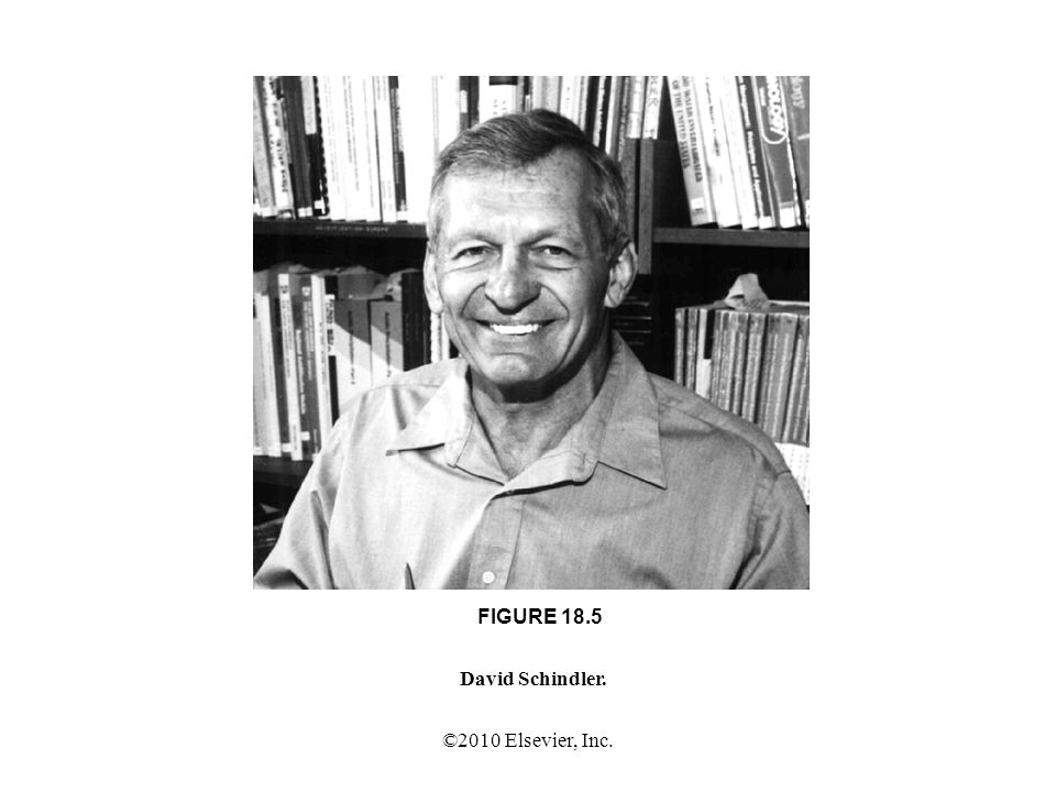 ©2010 Elsevier, Inc. FIGURE 18.5 David Schindler.