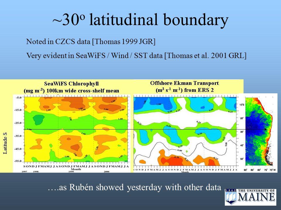 Interannual Variability 3 years – GRL 2001 a preliminary view
