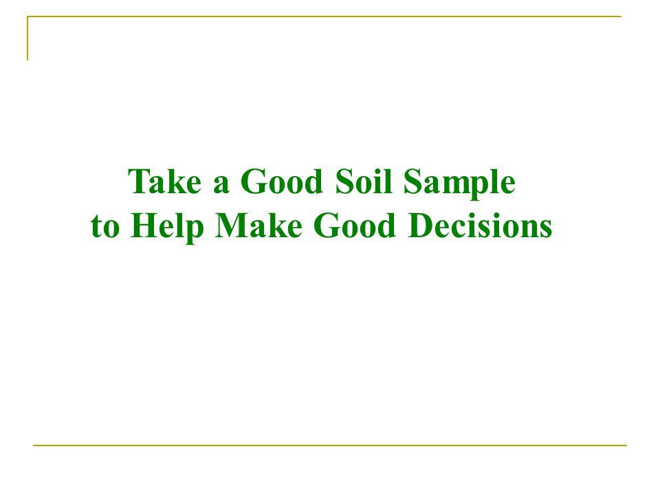 Take a Good Soil Sample to Help Make Good Decisions